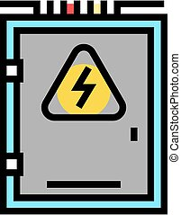 electrical box color icon vector illustration