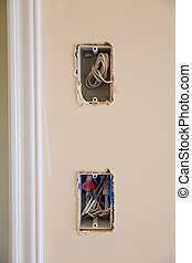 electrical box for switch and plug with wires while new...