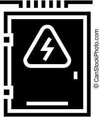 electrical box glyph icon vector illustration