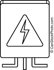 Electrical box icon, outline style