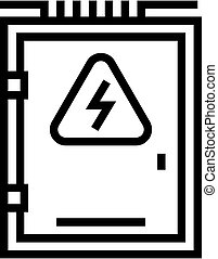electrical box line icon vector illustration