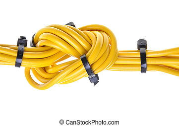Electrical cables with cable ties
