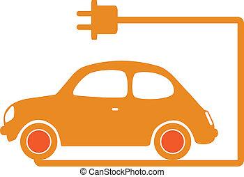 Electrical car vector illustration