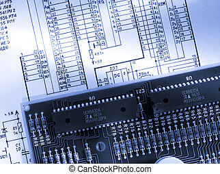 Electrical cardboard with graphical drawing