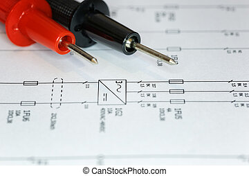 Troubleshoot an electrical problem using an electrical chart and a multimeter.