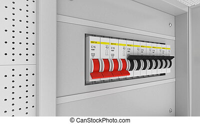 trip switch fuse box switches off position electricity power rh canstockphoto com