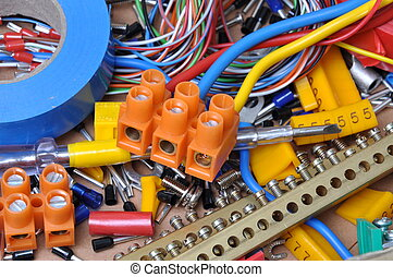 Electrical component kit for use in electrical installations...