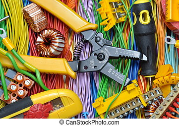 Electrical component kit to use in electrical installations