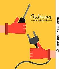 electrical concept design, vector illustration eps10 graphic...