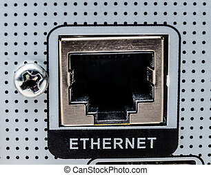 Electrical connector interface. Photo Close-up