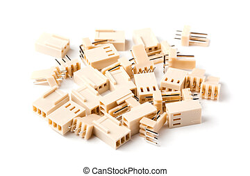 Electrical contacts on a white background - Block contacts ...