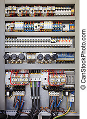 Electrical control panel - Electrical panel at a assembly ...
