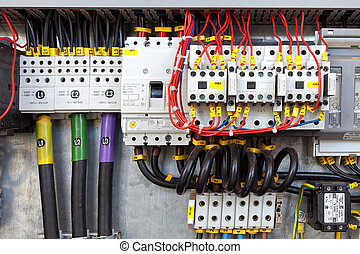 Electrical control panel - Electrical panel with fuses and...