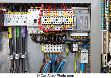 Electrical control panel - Electrical panel at a assembly...