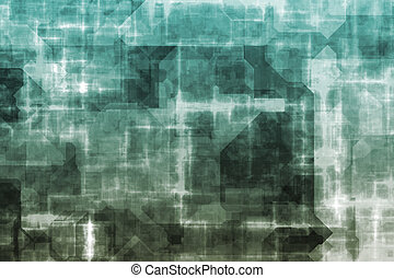Electric Storm Current Grid Abstract Background Wallpaper