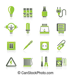 Electrical devices icons - Electrical devices and equipment...