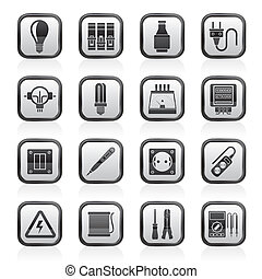 Electrical devices icons - Electrical devices and equipment ...