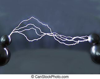 Electrical discharge - This artificially created by an...