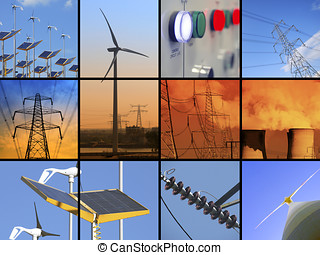 Electrical Energy - Set of twelve images relating to...