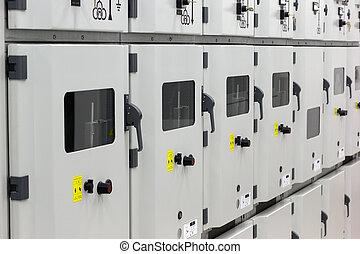 Metal enclosed medium voltage electrical energy distribution substation.