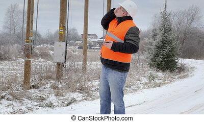 Electrical Engineer talking