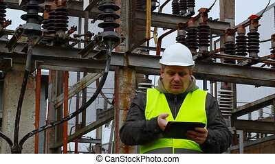 Electrical Engineer in the electric substation