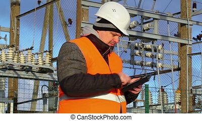 Electrical Engineer working