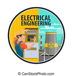 Electrical engineering, power plant, electrician