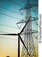 electrical equipments silhouette