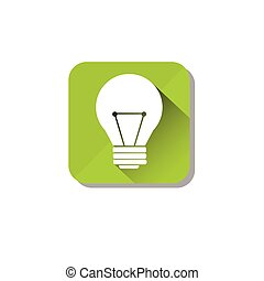 Electrical Green Light Bulb Eco Environment Clean Care Icon