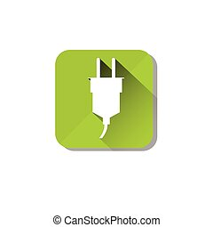 Electrical Green Plug Eco Environment Clean Care Icon