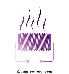 Electrical heater icon. Flat color design. Vector...