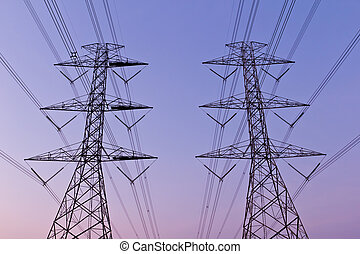 electrical high voltage power pylon
