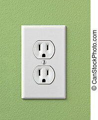 Electrical House Outlet 110- Green - Electrical House Outlet...