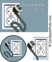Electrical industry. Symbol set
