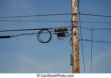 Electrical Lines - telephone / electrical lines on pole