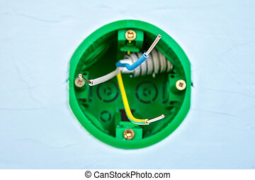 Electrical maintenance with round socket box.