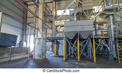 Electrical mill machinery and elevator for the production of...
