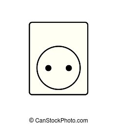 electrical outlet icon- vector illustration