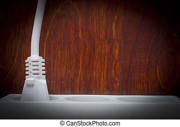 Electrical outlet with plug