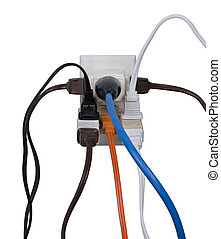 Electrical overload - Hazardous overloaded electrical power...