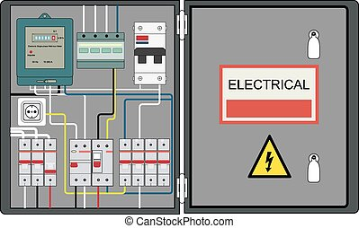Electrical panel - Picture of the electrical panel, electric...