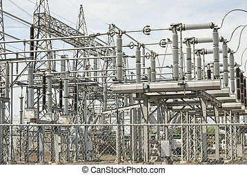 Electrical Plant - A view of electrical power plant...