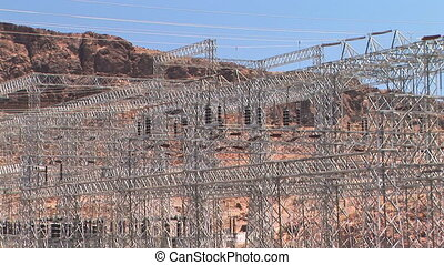 Electrical plant at the Hoover Dam - Hydroelectric Power...