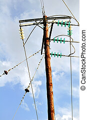 Electrical pole - Electrical power pole and lines in rural ...