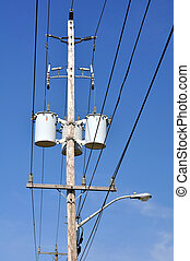 Electrical pole - Electrical power pole with associated ...