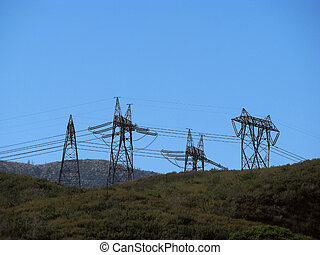 Electrical Power Line Towers - Overhead Electrical ...