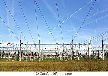 electrical power station with sky