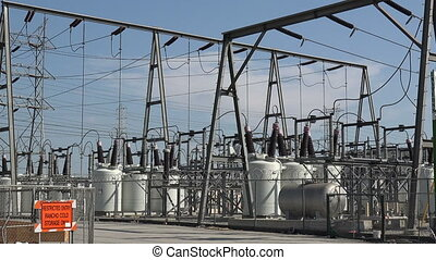 Electrical power substation - A power transformer station