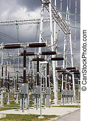 Electrical power substation.